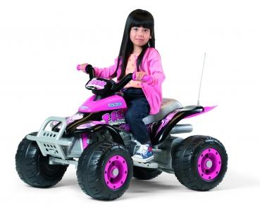 electric quad for children peg p rego corral t rex pink. Black Bedroom Furniture Sets. Home Design Ideas