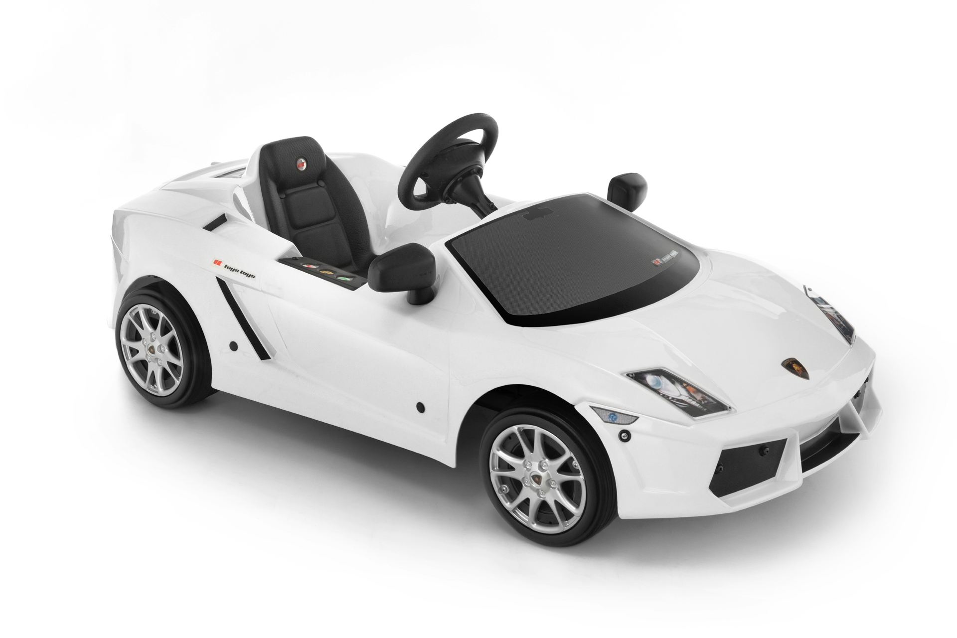 kinder elektroauto toys toys lamborghini gallardo wei. Black Bedroom Furniture Sets. Home Design Ideas