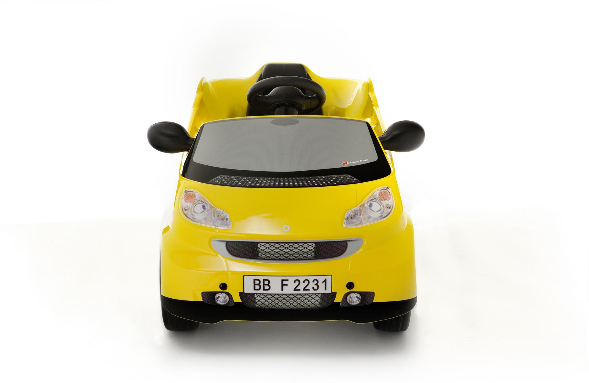 Elektroauto Toys Toys SMART Fortwo gelb Kinderautohaus