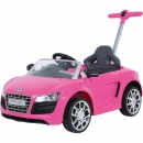 Kinder Push Buggy Audi R8 pink
