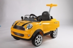 Kinder Push Buggy Mini Cooper gelb