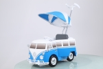 Kinder Push Buggy VW Bus blau